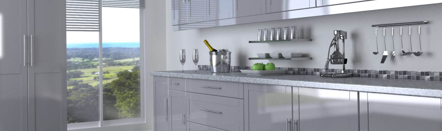 Kitchen cabinet doors huntingdon - Kitchen Doors And Drawer Fronts In Silver High Gloss