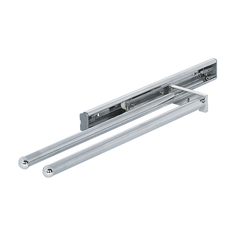 Towel Rail 2 arm polish chrome